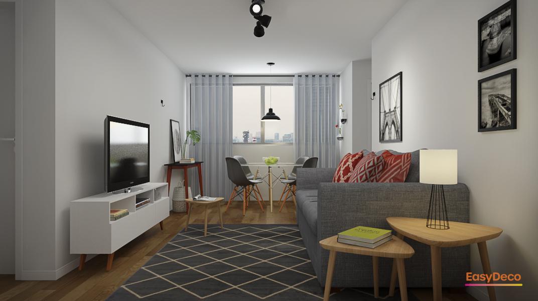 sala-pequena-com-mesa-redonda-quadros-decorativos