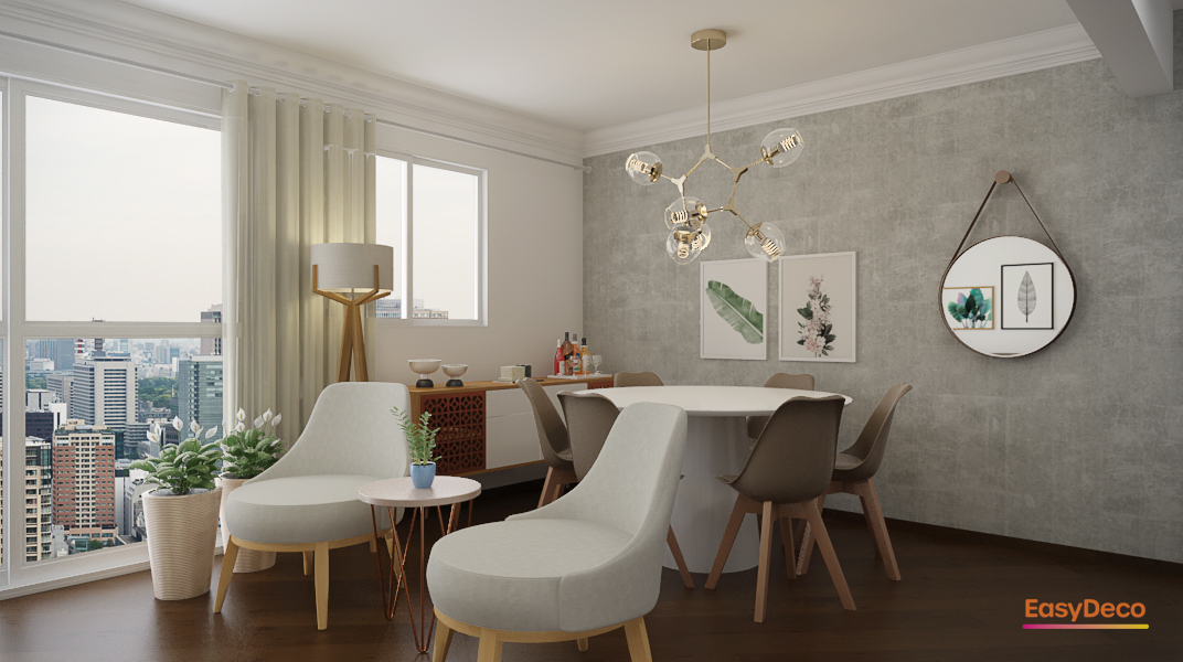 sala-de-jantar-sofisticada-com-mesa-redonda-e-lustre-dourado